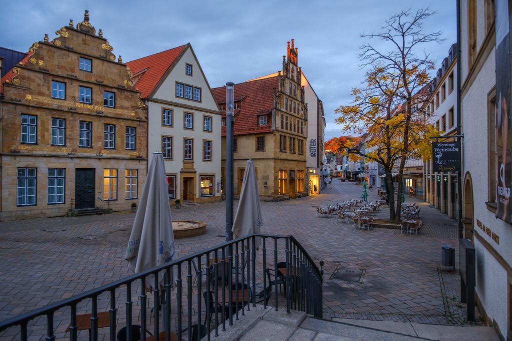 Alter Markt an einem Herbstmorgen | Alter Markt früh morgens im Herbst.