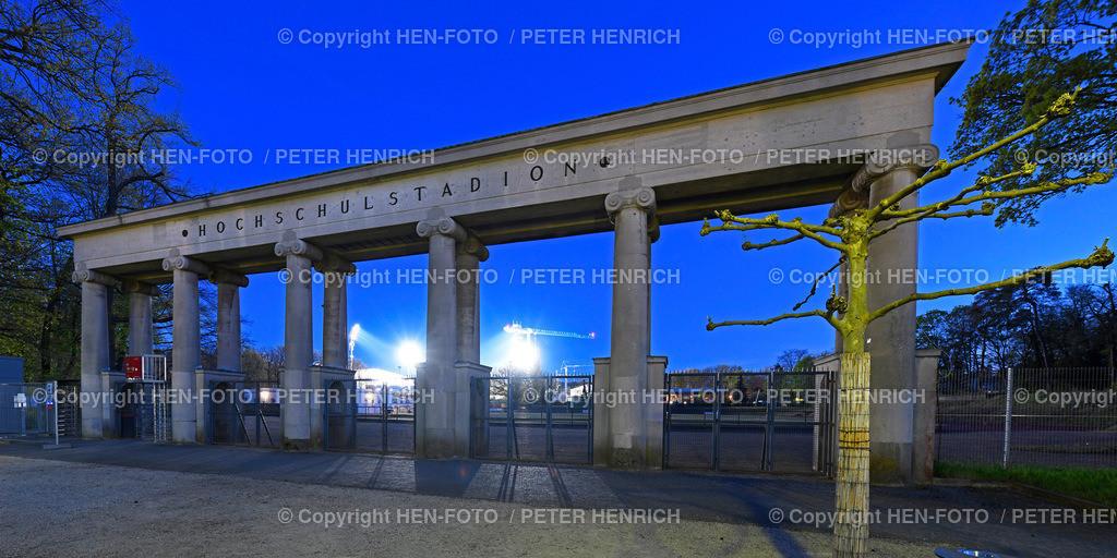 Blick vom Eingang Hochschulstadion zum Böllenfalltor Stadion - copyright by HEN-FOTO | Blick vom Eingang Hochschulstadion zum Böllenfalltor Stadion in Darmstadt - copyright by HEN-FOTO Peter Henrich