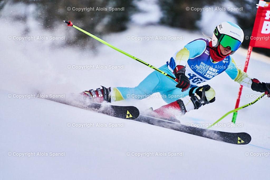 ALS6015_WWMG_GS-II_C   (C) FotoLois.com, Alois Spandl, WinterWorldMastersGames 2020 Innsbruck, Giant Slalom-II Gruppe C Damen, Patscherkofel Olympiaabfahrt, Mi 15. Jänner 2020.