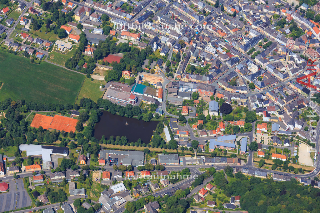 wunsiedel-2014-109 | Luftbild von  Wunsiedel - Luftaufnahme wurde 2014 von https://frankenair.de mittels Flugzeug (keine Drohne) erstellt - die Geschenkidee