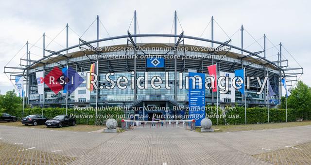 200809_RS-239693_NIK_3095-Pano | Ostseite des Volksparkstadions in Hamburg (Außenansicht)