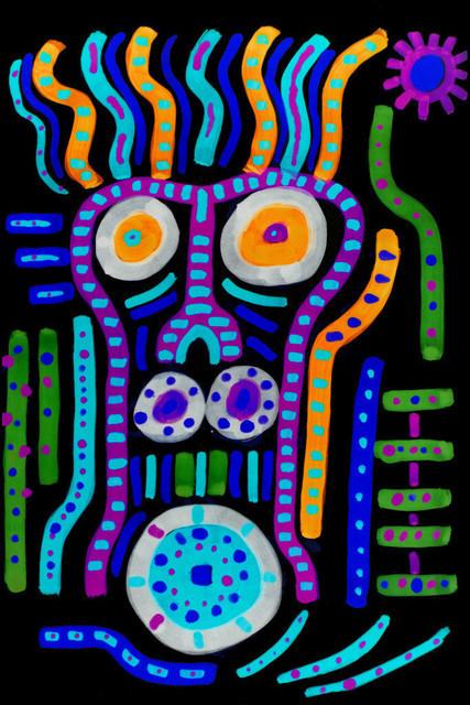 FlopFlip -Mond | ... ist ein veganer Zombie-Kannibale mit einem IQ von 42 Megaflops , oder waren es flips?  Egal, er ist aber ziemlich durchgeknallt!  Hier eines seiner entspannteren Urlaubsfotos - 1982 auf Usedom.