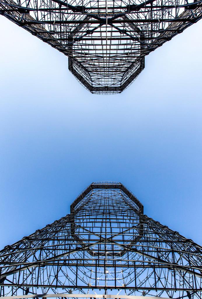 JT-170109-631 | Zeche Zollverein in Essen, UNESCO Welterbe, Kühltürme auf der Kokerei, nur noch die Stahlgerippe stehen, die Holzverschalung wurde entfernt,