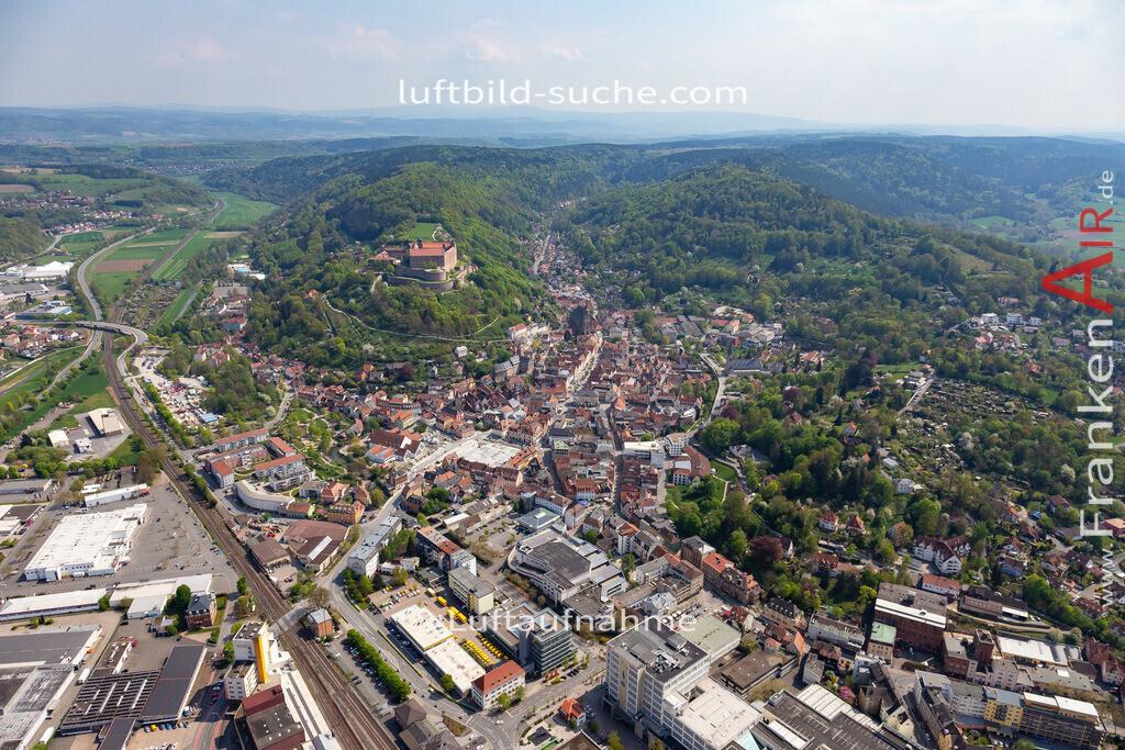 kulmbach-18-66   aktuelles Luftbild von  Kulmbach - Luftaufnahme wurde 2018 von https://frankenair.de mittels Flugzeug (keine Drohne) erstellt.