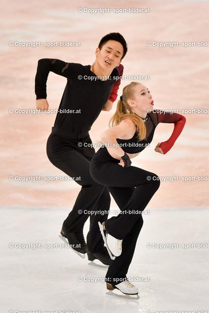 AUT, Eiskunstlaufen, Junior Grand Prix of Figure Skating 2021/2022 | 07.10.2021, Eishalle Linz, AUT, Eiskunstlaufen, Junior Grand Prix of Figure Skating 2021/2022, im Bild Soifya Lukinskaya und Danil Pak (KAZ) - Junior Ice Dance Rhythm Dance