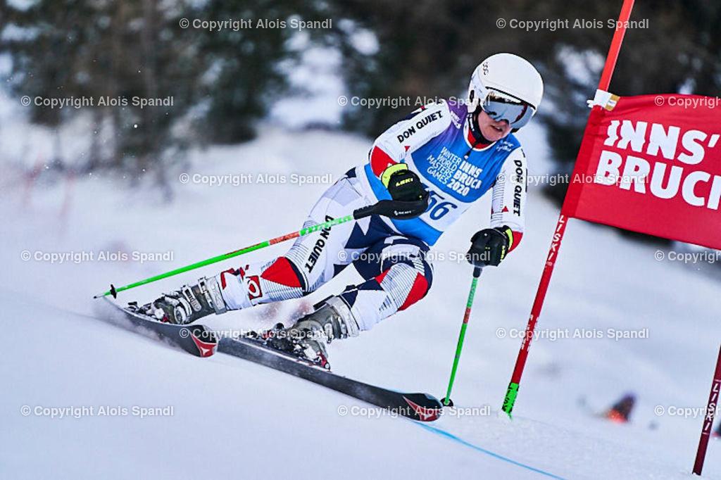 ALS5963_WWMG_GS-II_C | (C) FotoLois.com, Alois Spandl, WinterWorldMastersGames 2020 Innsbruck, Giant Slalom-II Gruppe C Damen, Patscherkofel Olympiaabfahrt, Mi 15. Jänner 2020.