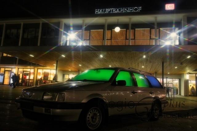 car show am Hauptbahnhof | Blickfang vor dem Hauptbahnhof in Hildesheim.