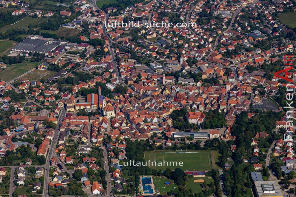 uffenheim-19-729   aktuelles Luftbild von  Uffenheim - Luftaufnahme wurde 2019 von https://frankenair.de mittels Flugzeug (keine Drohne) erstellt.