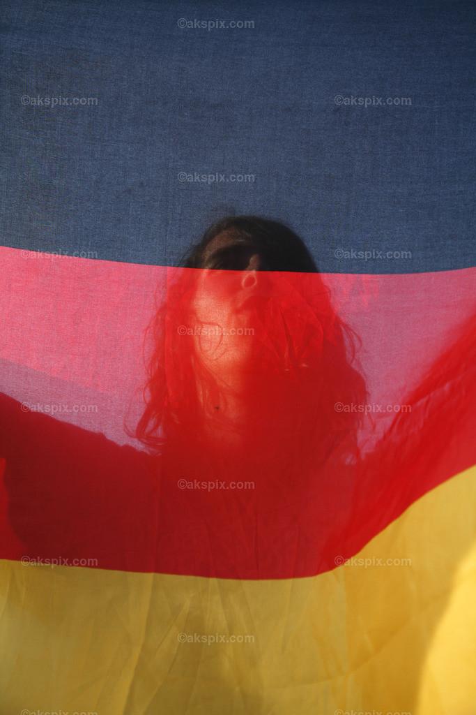 Nationalflagge-Mann