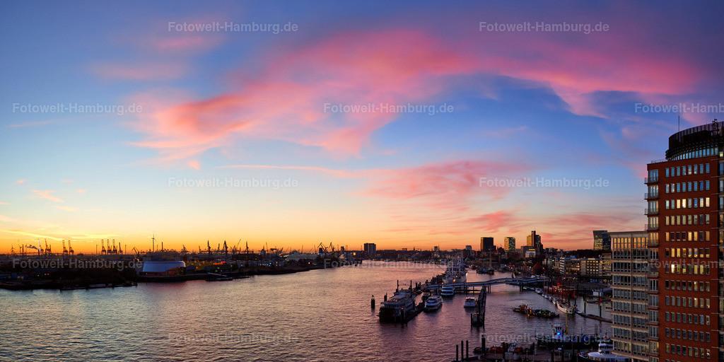 11902527 - Abendrot über dem Hamburger Hafen