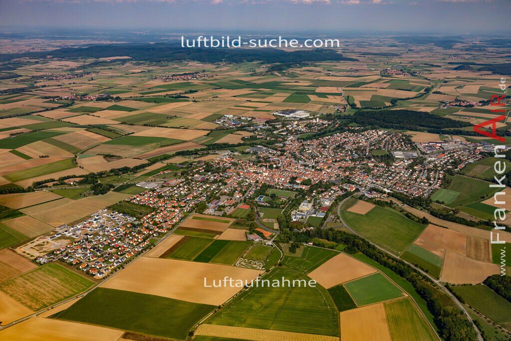 uffenheim-19-726   aktuelles Luftbild von  Uffenheim - Luftaufnahme wurde 2019 von https://frankenair.de mittels Flugzeug (keine Drohne) erstellt.