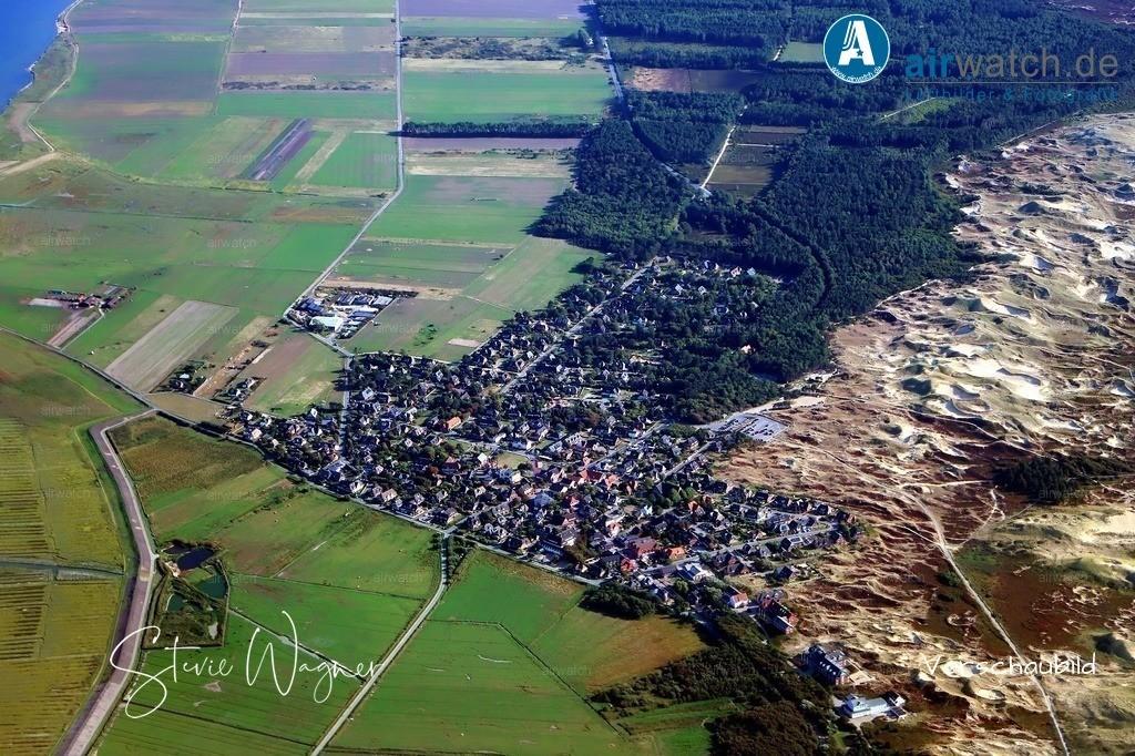 Luftbild, Nordsee, Amrum, Kniepsand, Norddorf | Luftbild, Nordsee, Amrum, Kniepsand, Norddorf
