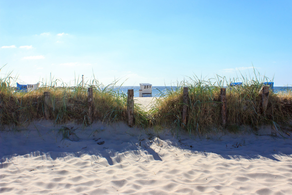 Strandkörbe an der Ostsee | Strandkorb am Strand in Damp