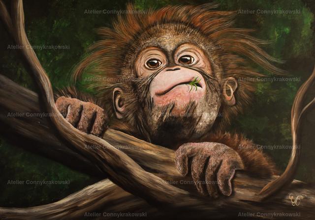 Baby C | Phantastischer Realismus aus dem Atelier Conny Krakowski. Verkäuflich als Poster, Leinwanddruck und vieles mehr.