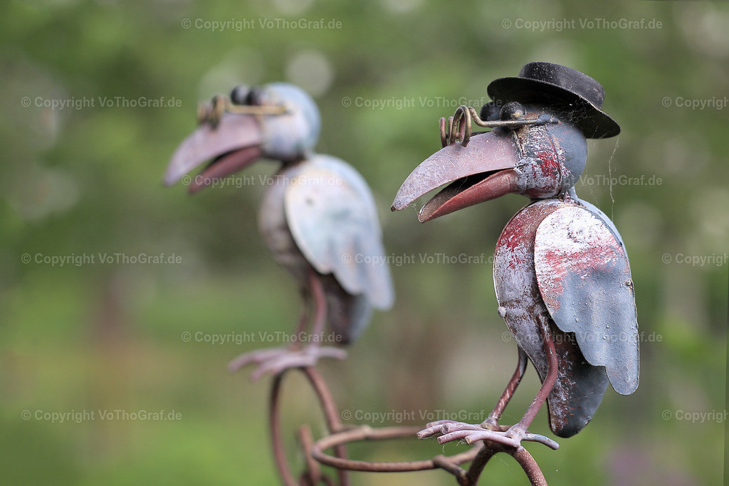 2018-05-10-9999_60 | zwei Vögel, Gartendekoration