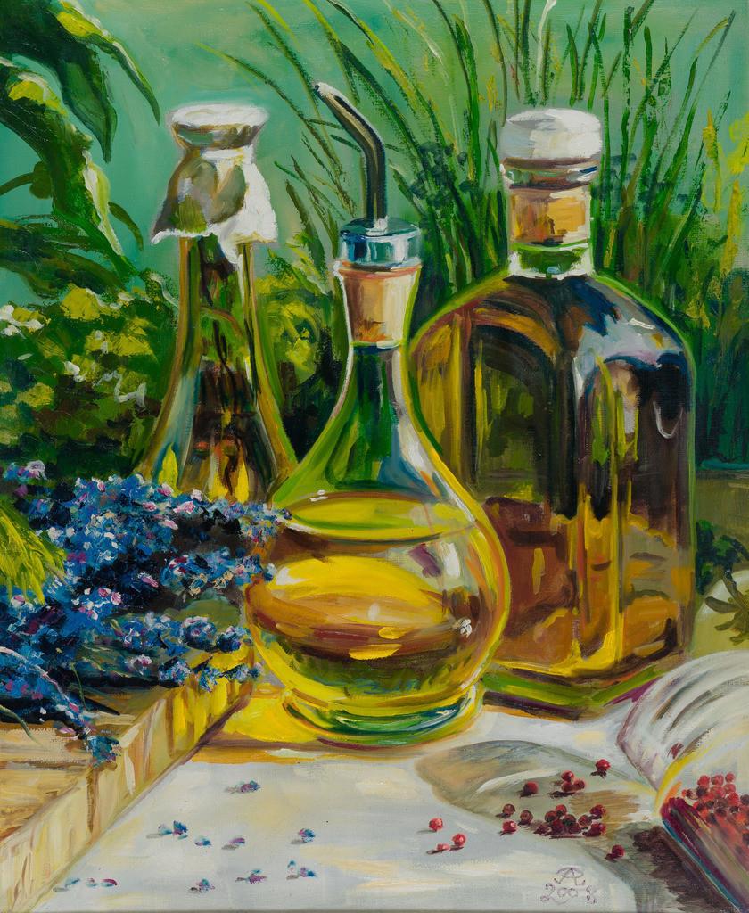 Kräuter in Öl | Originalformat: 60x50cm  -  Produktionsjahr: 2008