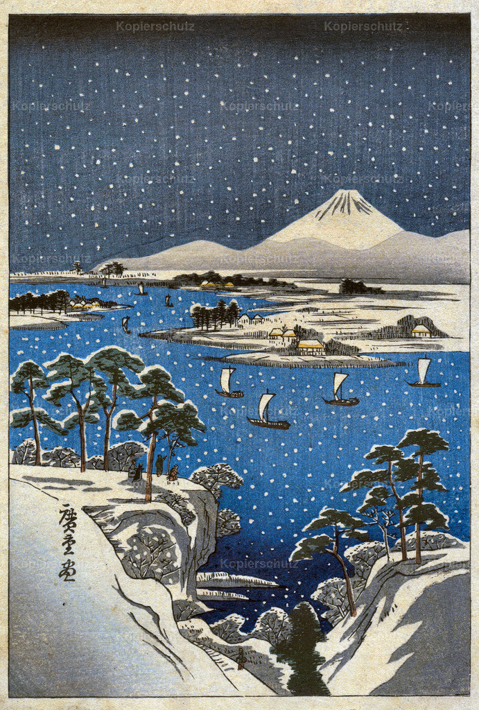 Woodblock after Hiroshige early 1900s - Large Format
