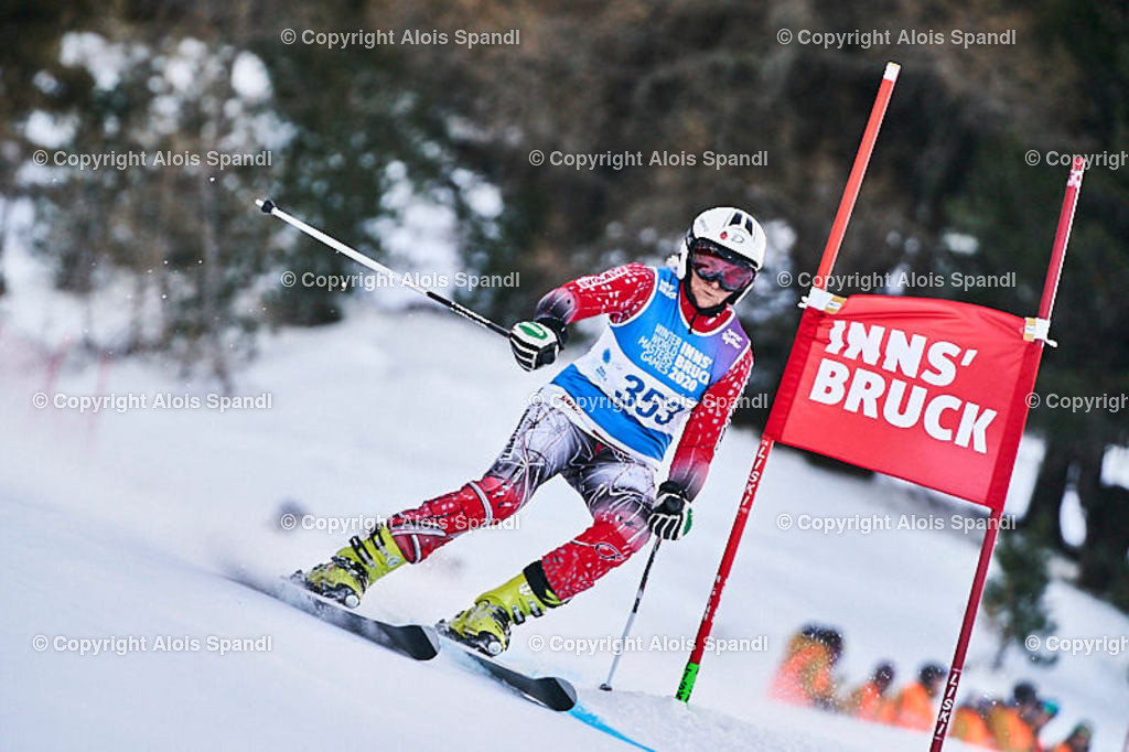 ALS5426_WWMG_GS-II_C | (C) FotoLois.com, Alois Spandl, WinterWorldMastersGames 2020 Innsbruck, Giant Slalom-II Gruppe C Damen, Patscherkofel Olympiaabfahrt, Mi 15. Jänner 2020.