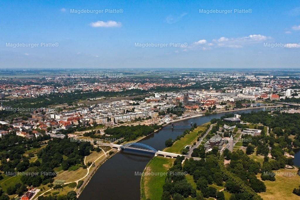 Luftbild Magdeburg Mitte Stadtansicht Das Foto IMG_2169