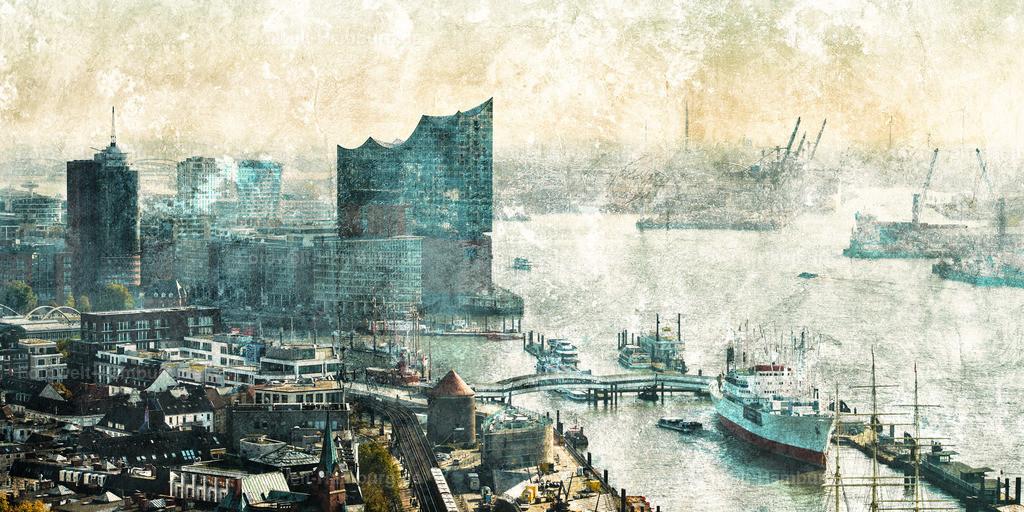 12015744 - Elbphilharmonie und Hafen