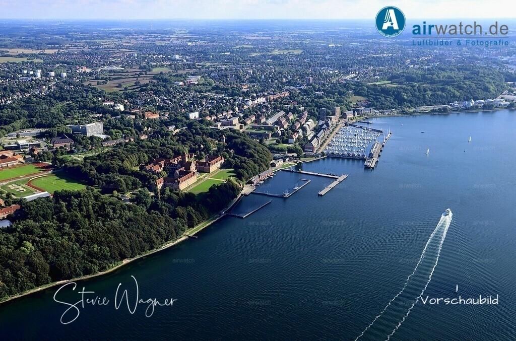 Luftbild Flensburger Foerde, Marineschule Muerwik, Sonwik | Flensburger Foerde, Marineschule Muerwik, Sonwik • max. 6240 x 4160 pix