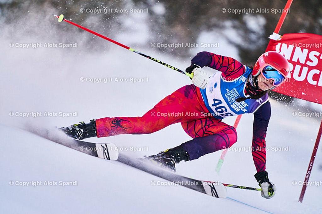 ALS6024_WWMG_GS-II_C | (C) FotoLois.com, Alois Spandl, WinterWorldMastersGames 2020 Innsbruck, Giant Slalom-II Gruppe C Damen, Patscherkofel Olympiaabfahrt, Mi 15. Jänner 2020.
