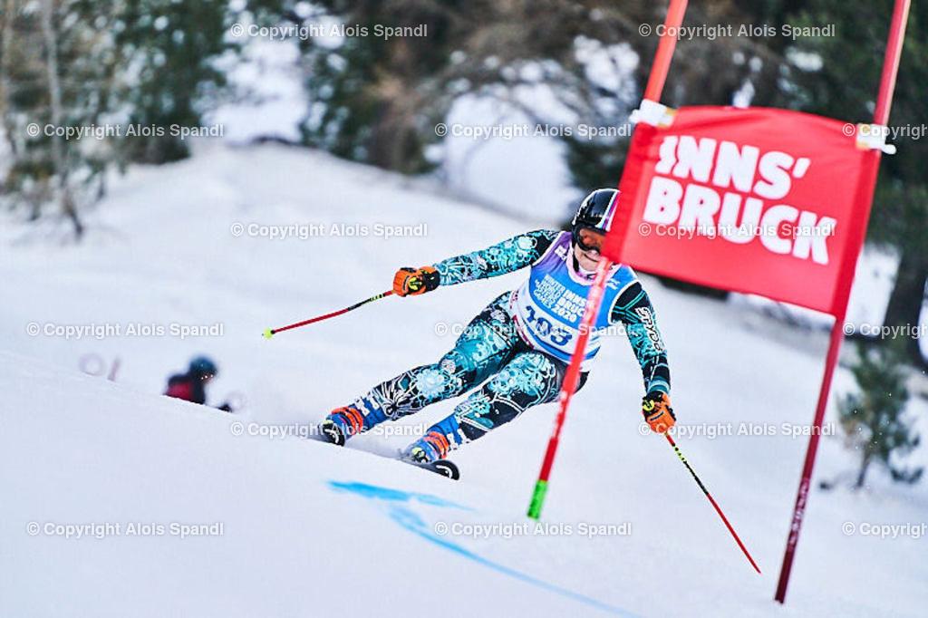 ALS5695_WWMG_GS-II_C | (C) FotoLois.com, Alois Spandl, WinterWorldMastersGames 2020 Innsbruck, Giant Slalom-II Gruppe C Damen, Patscherkofel Olympiaabfahrt, Mi 15. Jänner 2020.