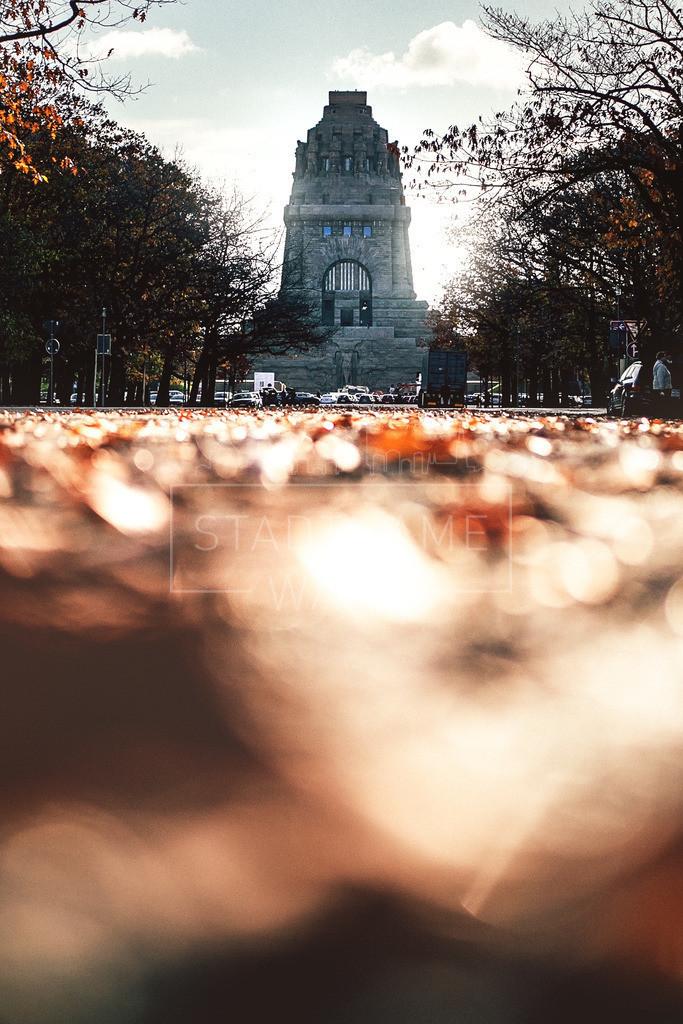 Völkerschlacht Denkmal Leipzig Herbst