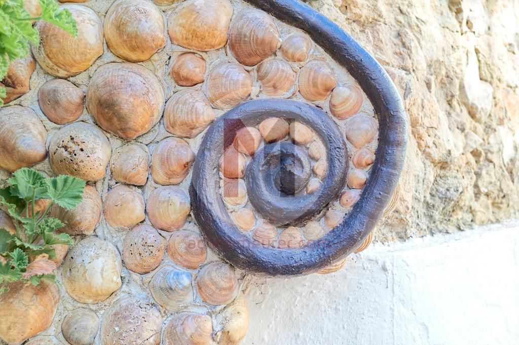 Das Muschelhaus in der Altstadt von Albufeira, Algarve, Portugal