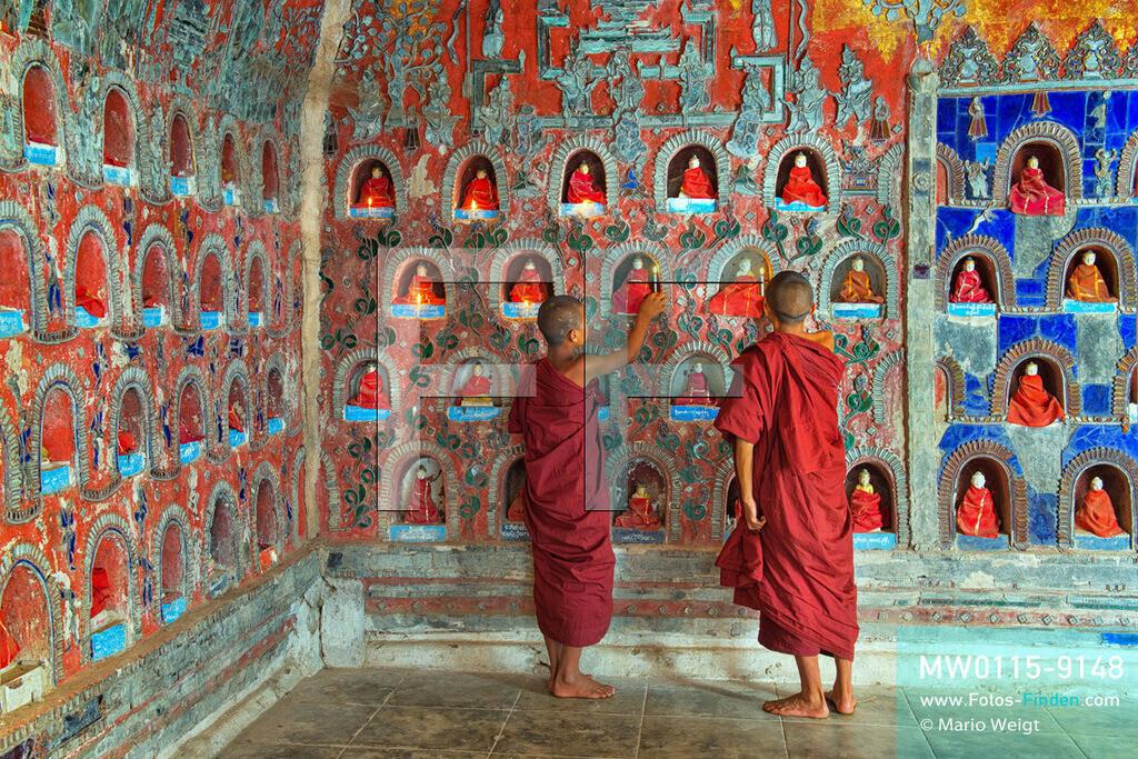 MW0115-9148 | Myanmar | Nyaungshwe | Meditative Fotos | Junge Mönche im Shwe-Yan-Bye-Kloster am Inle-See  ** Feindaten bitte anfragen bei Mario Weigt Photography, info@asia-stories.com **