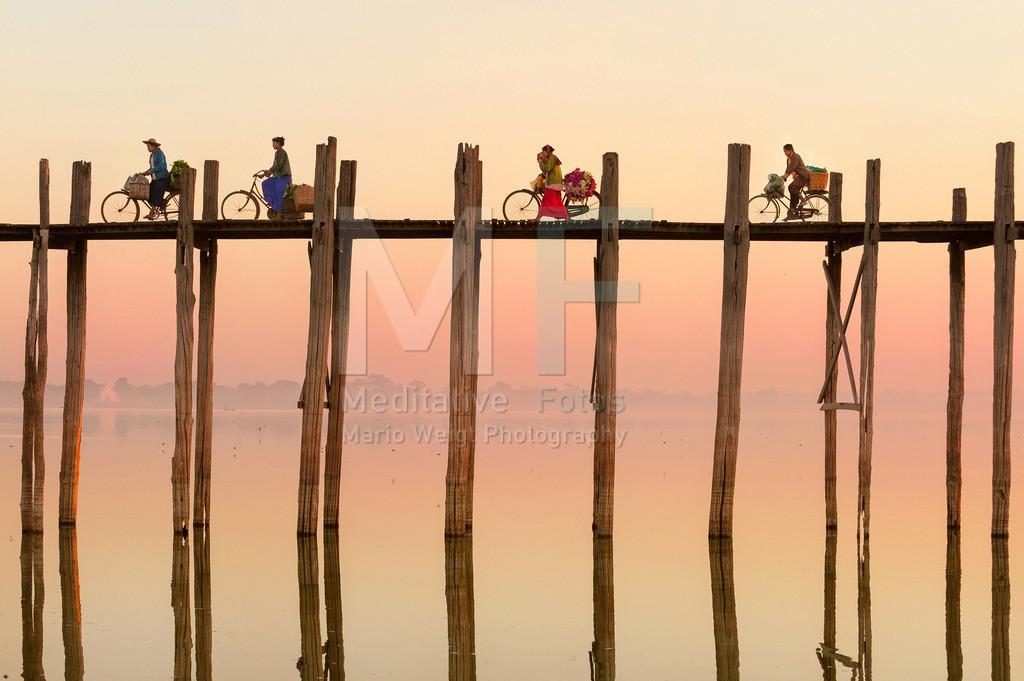 MW0115-7997 | Myanmar: Teakholzbrücke in der alten Königsstadt Amarapura