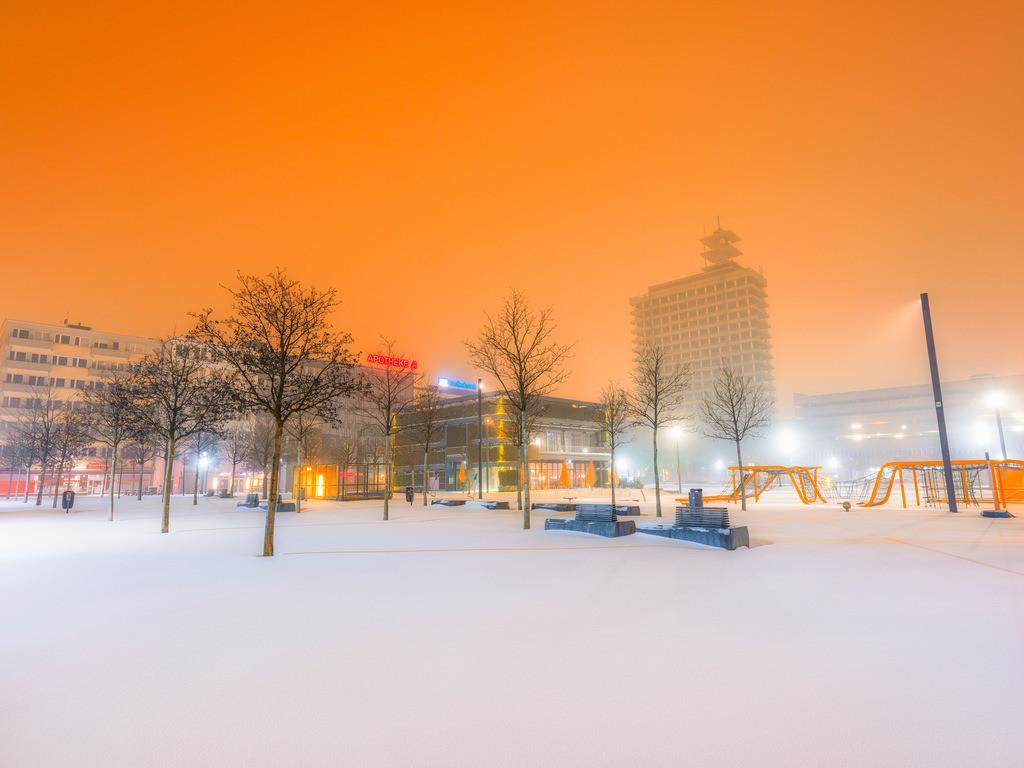Schnee auf dem Kesselbrink | Schnee auf dem Kesselbrink früh morgens im Februar 2021.