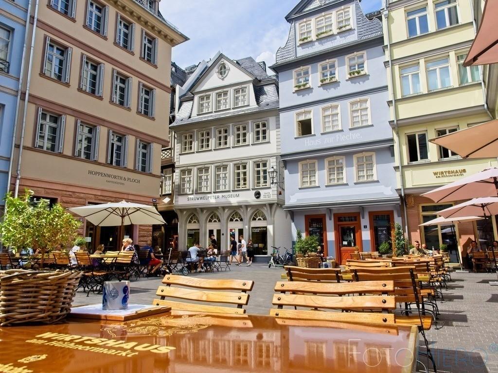 Hühnermark Frankfurt am Main | Hühnermarkt in Frankfurt am Main mit dem Struwelpeter Museum