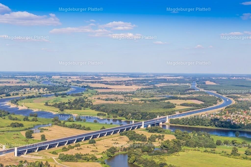 Luftbild Magdeburg Trogbrücke Landschaft IMG_2190