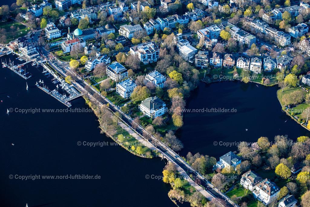 Hamburg_Uhlenhorst_Schöne_Aussicht_Feenteich_ELS_4855200421 | HAMBURG 20.04.2021 Häuser und Straßenzug