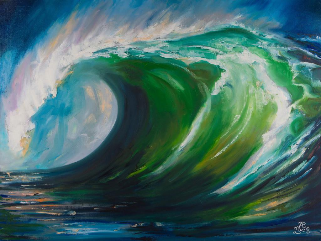 Eine Welle | Originalformat: 60x80cm  -   Produktionsjahr: 2008