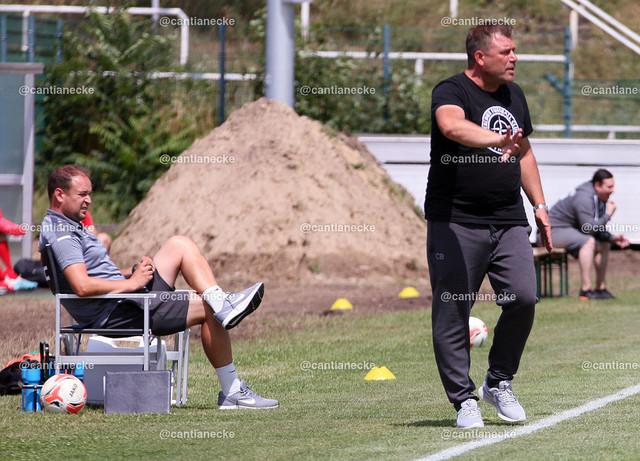2021-07-10 035b   Trainerteam BFC Dynamo;  Christof Reimann; Christian Benbennek im Sportforum beim Test gegen SV Sparta