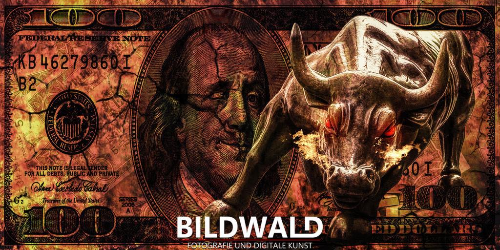dollar_stier_gold_wallstreet_feuer_wild_erfolg_geld_money