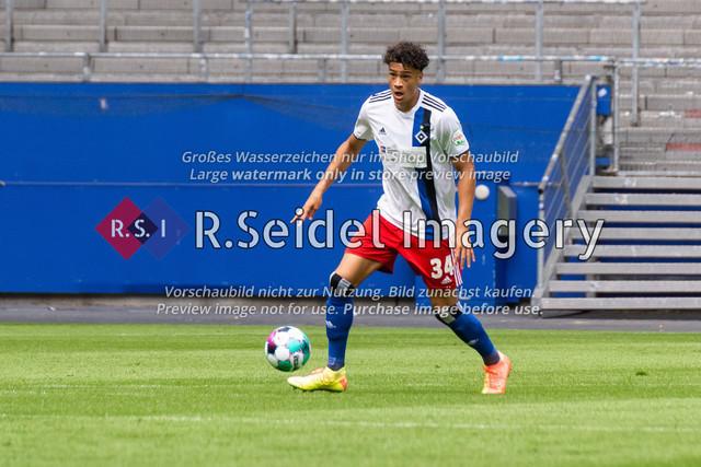 Fußball, Herren, Testspiel, Hamburger SV - FC Hansa Rostock, Volksparkstadion, 09.08.2020 | Jonas David (#34 HSV)