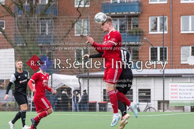 Fußball, Herren, Mercado Cup 2020, TSV Sasel (Oberliga) - FC Teutonia Ottensen 05 (Oberliga), Sportplatz Kreuzkirche, 02.02.2020 | Benjamin Lucht (#20, Sasel)