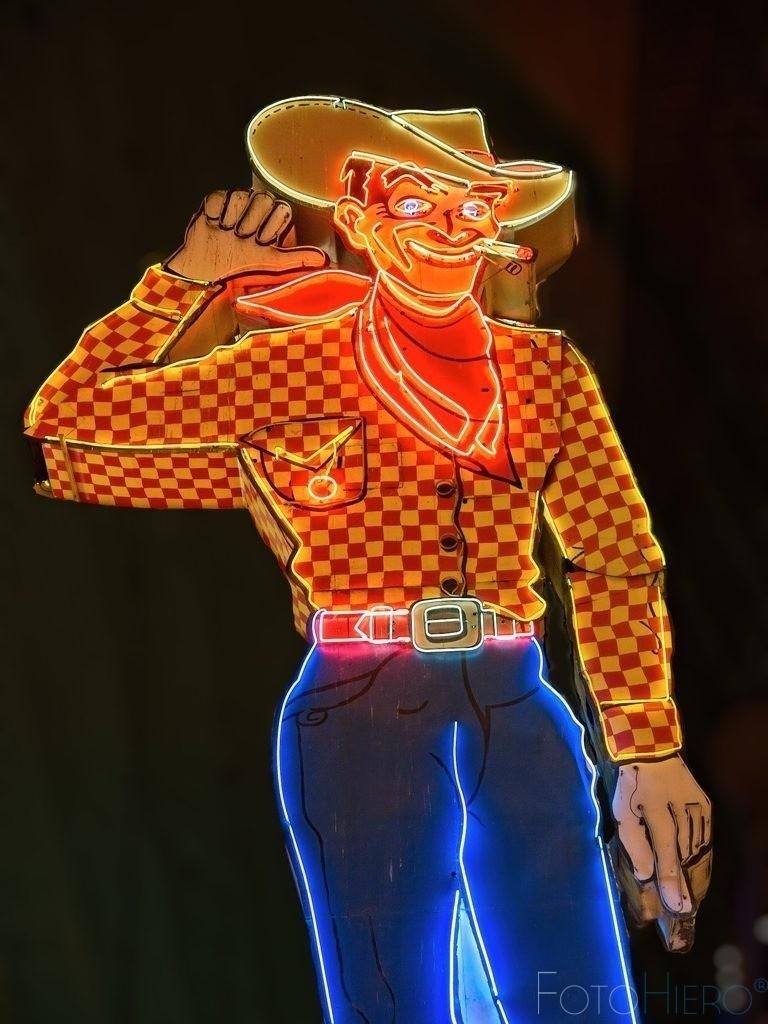 Las Vegas Cowboy   Der Las Vegas Cowboy in der Fremond Street