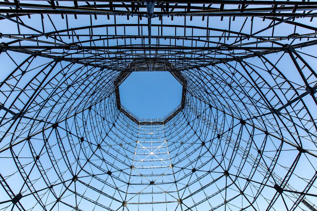 JT-170109-627 | Zeche Zollverein in Essen, UNESCO Welterbe, Kühltürme auf der Kokerei, nur noch die Stahlgerippe stehen, die Holzverschalung wurde entfernt,