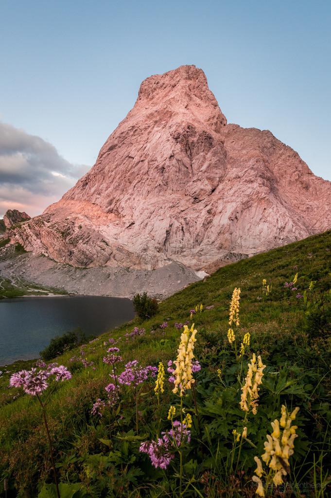 Sonnenuntergang am Wolayersee | Sonnenuntergang im Lesachtal  in Kärnten mit Blick auf die Seewarte