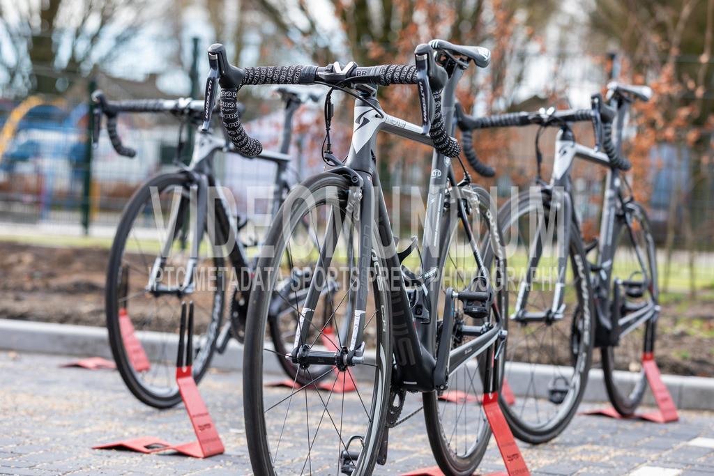 Eijsden, Netherlands - March 31, 2018: Volta Limburg UCI men elite road racing event, Mixed Zone   Eijsden, Netherlands - March 31, 2018: Volta Limburg UCI men elite road racing event, Mixed Zone, Photo: videomundum