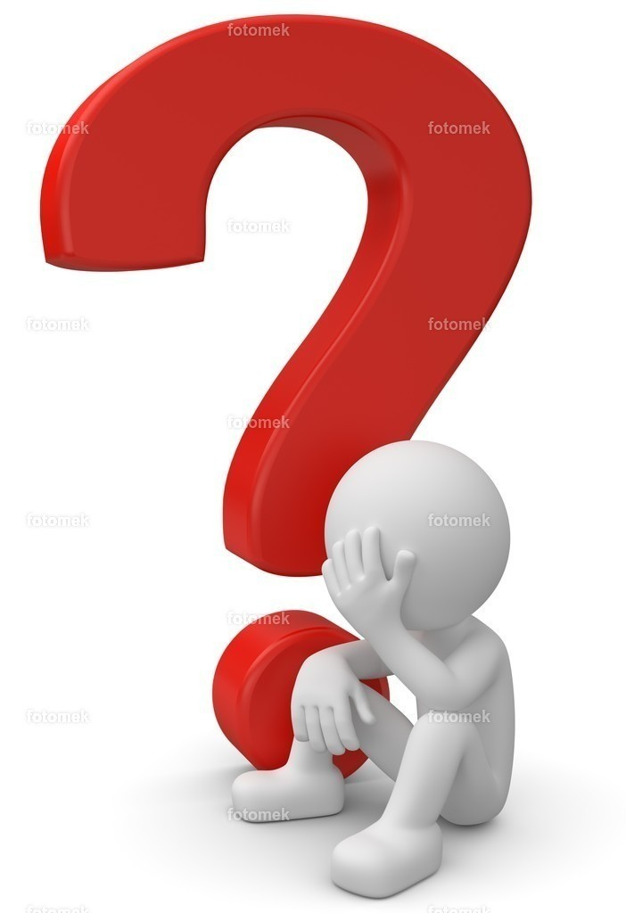 3d Männchen rotes Fragezeichen Sorgen Verzweiflung