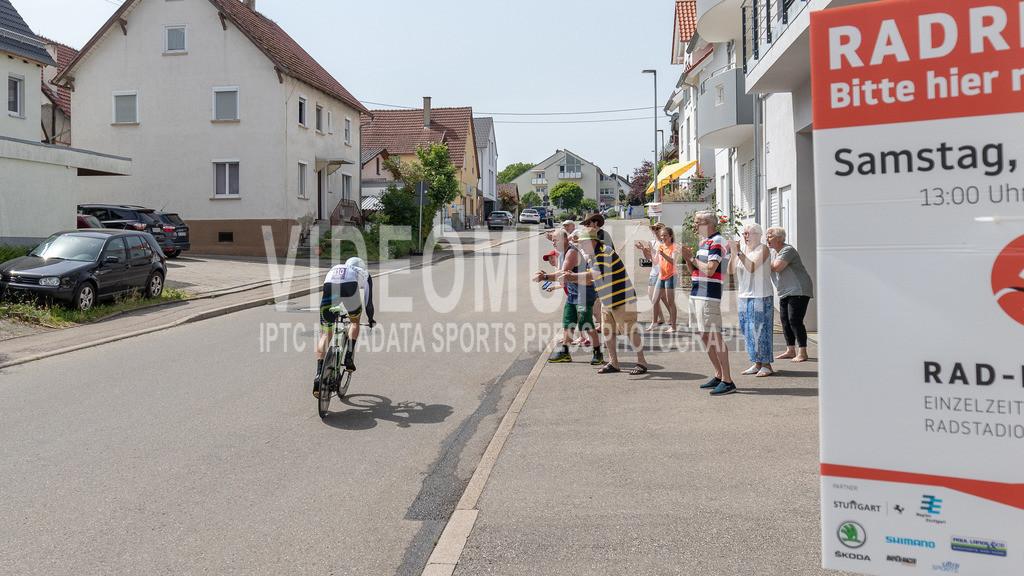 Gäufelden-Öschelbronn, Germany - June 19, 2021: Deutsche Straßenradmeisterschaften 2021, RAD-DM 2021 Stuttgart & Region, Einzelzeitfahren, Männer | Gäufelden-Öschelbronn, Germany - June 19, 2021: Deutsche Straßenradmeisterschaften 2021, RAD-DM 2021 Stuttgart & Region, Einzelzeitfahren, Männer, Dr. Ricardo Mariense-Wickert (Team Magnesium Pur), Photo: videomundum