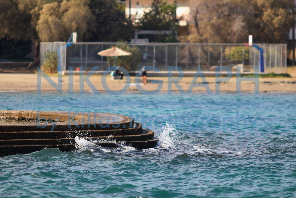 Strand von Chalkida | Am Strand von Chalkida auf der griechischen Insel Euböa.