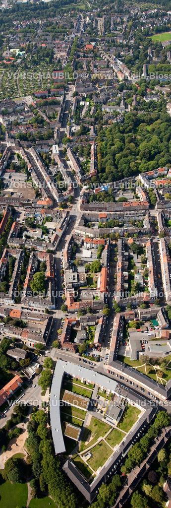 ES10095625 | Luftbild, Frohnhauser Straße, Marketing Essen, Grieger,  Essen, Ruhrgebiet, Nordrhein-Westfalen, Germany, Europa, Foto: hans@blossey.eu, 11.09.2010