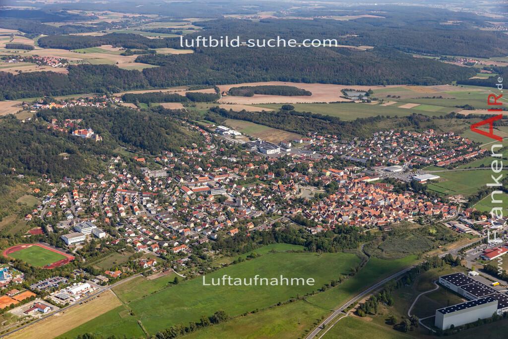 scheinfeld-19-763 | aktuelles Luftbild von  Scheinfeld - Luftaufnahme wurde 2019 von https://frankenair.de mittels Flugzeug (keine Drohne) erstellt.