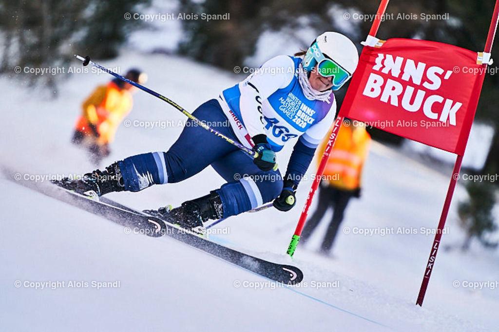 ALS6030_WWMG_GS-II_C | (C) FotoLois.com, Alois Spandl, WinterWorldMastersGames 2020 Innsbruck, Giant Slalom-II Gruppe C Damen, Patscherkofel Olympiaabfahrt, Mi 15. Jänner 2020.